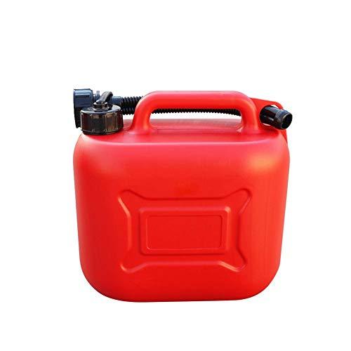 Latas De Gasolina, Tanque Combustible Gas Repuesto 5L / 10L 20L, Latas Rojas Portátiles Con Escala Antiestático Engrosado Tanques Gasolina Plástico Contenedor Aceite Uso Para Motocicletas Y Automóvile