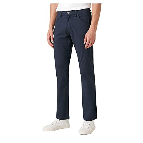 Wrangler Greensboro Pantaloni, Blu (Navy 114), 36W / 32L Uomo