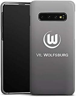 DeinDesign Premium Case kompatibel mit Samsung Galaxy S10 Smartphone Handyhülle Hülle matt Offizielles Lizenzprodukt VFL Wolfsburg Logo