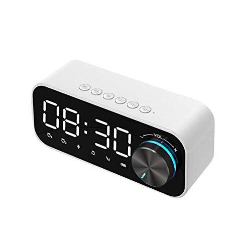 Oulian Reloj Despertador Digital, Reloj Despertador con Radio LED, Reloj con Altavoz Bluetooth 5.0 con Pantalla LED de Hora y Alarma, Diseño de Reloj Despertador Doble, para el Dormitorio del Hogar