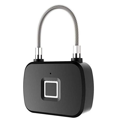 Candado de huellas dactilares, bloqueo de seguridad inteligente con batería, seguridad portátil, antirrobo sin llave, para puerta, caja fuerte, bicicleta, taquilla de gimnasia, maleta de equipaje, cas