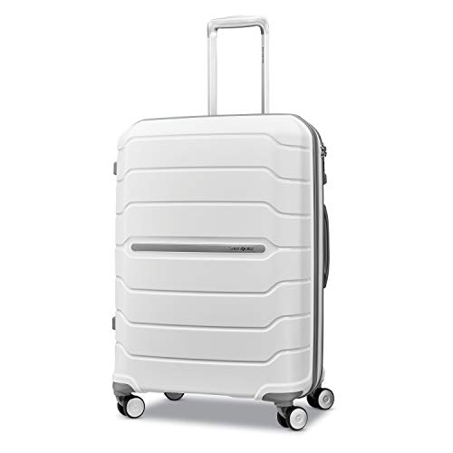 Samsonite Freeform Hardside Luggage, White, Checked-Medium