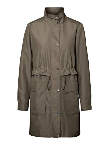 Vero Moda Vmpernilleuni 3/4 Jacket Gabardina, verde oscuro, M para...