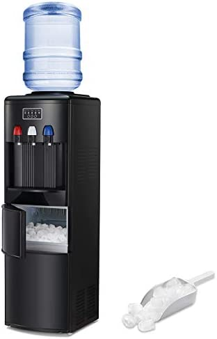 Antarctic Star 2 in 1 Water Cooler Dispenser with Built in Ice Maker Freestanding Hot Cold Top product image