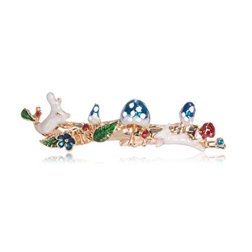 YAZILIND Animal Conejo Seta broches Vintage Broche Pin joyería Regalos para Unisex joyería Azul