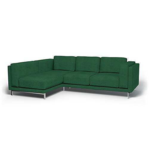 Bemz Bezug für 3er-Sofa Nockeby, Récamiere Links