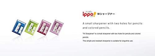 Tombow Ippo Pencil Sharpener, 2 Blade Size, Assorted Colors, 1-Pack Photo #3