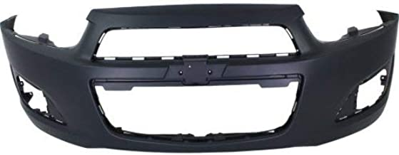Front Bumper Cover Compatible with 2012-2016 Chevrolet Sonic Primed LS/LT/LTZ Models Hatchback/Sedan