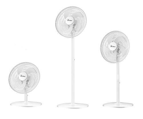 Ardes AR5PR403V Trio Ventilator Multifunctioneel 3-in-1, 130 cm, tafelblad 102 cm, tafelblad 56 cm, 3 snelheden, 5 palen, 42 cm, 45 W, wit