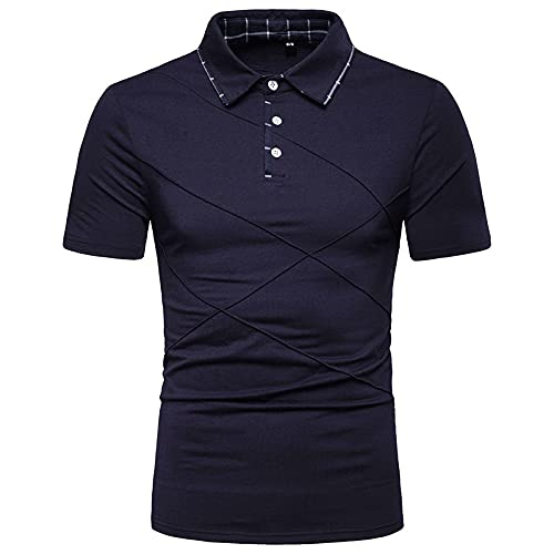 LSSM Camisa Polo De Manga Corta De Verano, Deportes Casuales, Color SóLido, Costura, Camisa Compasiva para...