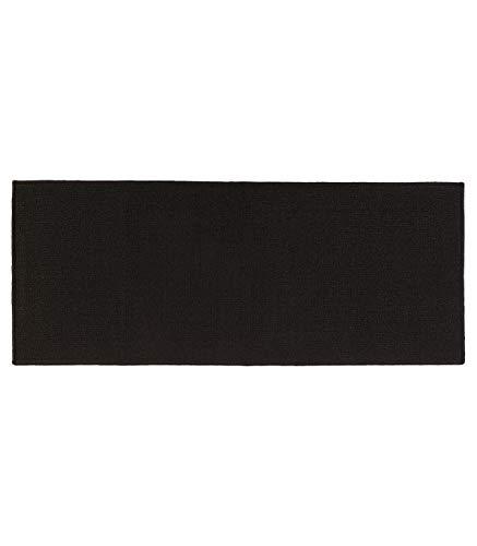 Clean house Tapis entrée long antidérapant 120x50cm noir