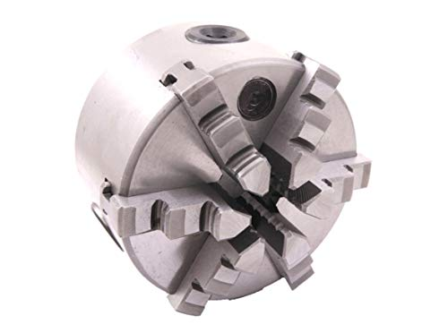 HHIP 3900-4552 6-Jaw Self-Centering Plain Back Lathe Chuck, 5