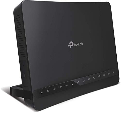 TP-Link VX220-G2V EVDSL Modem Router bis zu 300 Mbps, WLAN 6 AX1500 Mbps 2,4/5 GHz, Festnetzelefon und VoIP, 5 Gigabit-Ports, 1 USB 2.0 (Kompatibilität mit Ihrer Linie)