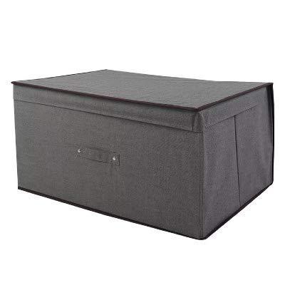 Caja de almacenamiento de ropa cuadrada no tejida plegable para ropa interior, sujetador, calcetines, divisor, escritorio, armario, organizador de juguetes, 04, XL (color: 2, tamaño: mediano)