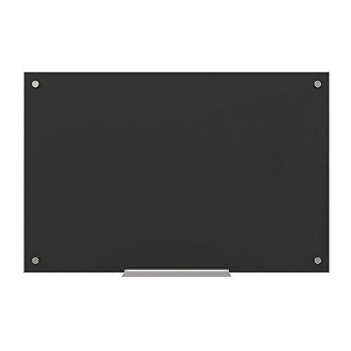 U Brands Pizarrón de vidrio de borrado en seco, Negro, 35 x 23 Inches