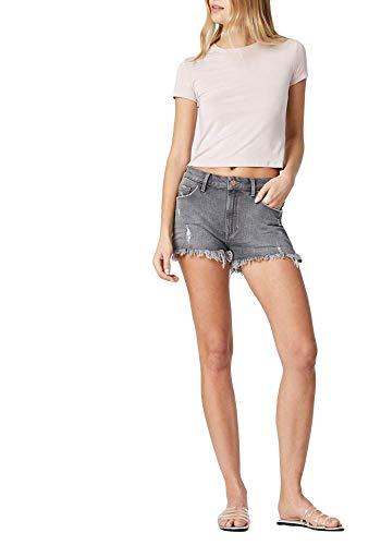 Mavi Women's Rosie High Rise Boyfriend Denim Shorts, Mid Grey London STR, 28