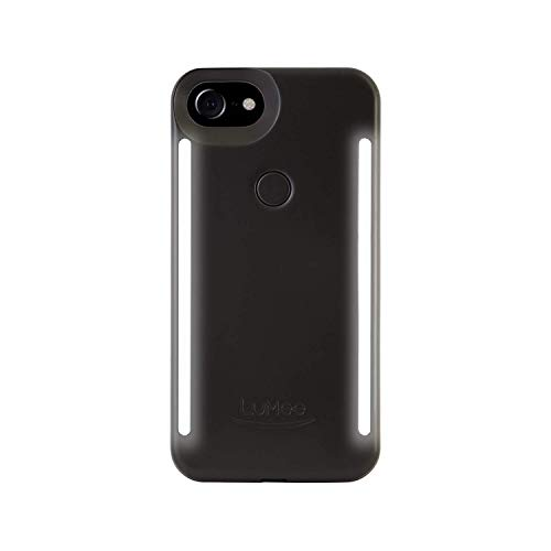 LuMee Duo Phone Case, Black Matte | Front & Back LED Lighting, Variable Dimmer | Shock Absorption, Bumper Case, Selfie Phone Case | iPhone 8 / iPhone 7 / iPhone 6s / iPhone 6 (LD-IP7-BLK)