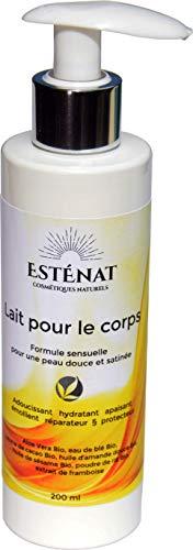 ESTÉNAT produits Naturels- Lait pour le corps naturel français de qualité bio, 200 ml - Formule sensuelle pour une peau douce et satinée