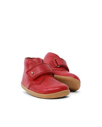 Bobux Step Up Desert Boot Rio Red est Une Chaussure en Cuir, Doublure en Cuir, Semelle Souple et résistante. La Chaussure idéale pour Les Premiers Pas - Rouge, 21 EU EU