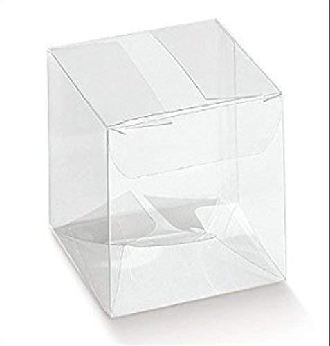 50 Piezas Caja PVC Transparente 10X10X10 cm Titular