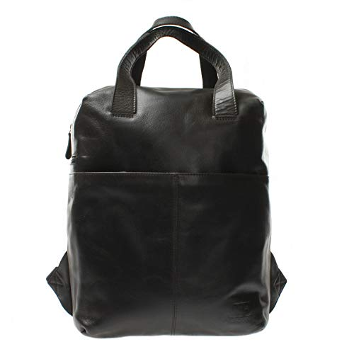 LECONI LE1020 Large Leather Backpack for Men and Women DIN A4 Leisure Backpack Modern Genuine Leather 31 x 40 x 15 cm