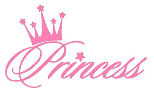 UR Impressions Pnk Princess Crown Decal Vinyl Sticker Graphics for Cars Trucks SUV Vans Walls Windows Laptop|Pink|56 X 36 Inch|URI281