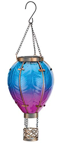Regal's Hot Air Balloon Solar Lantern SM - Blue
