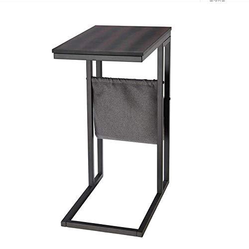 Mesa de cama, Tische C-typtisch-Tischlampe Beistelltisch, hölzerner Desktop-Metallrahmen mit Aufbewahrungstasche, Nachttisch im Schlafzimmer, Untersuchungstabelle, Laptop-Beistelltisch-Couchtisch