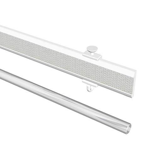 Flairdeco Paneelwagen mit Klettband, kürzbar, Aluminium, Weiß, 45 cm