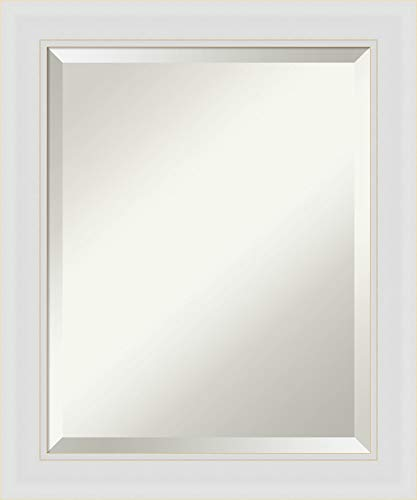 Framed Vanity Mirror   Bathroom Mirrors for Wall   Flair Soft White -