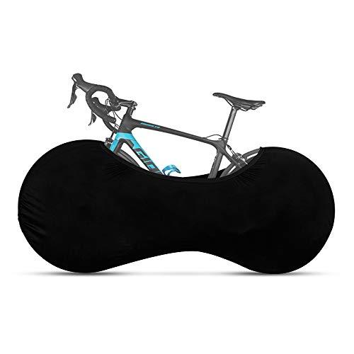 Dumcuw Cubierta para rueda de bicicleta, antipolvo, elástica, lavable, mantiene los suelos y las paredes, sin suciedad, el paquete de fundas para neumáticos se adapta a la mayoría de las bicicletas.