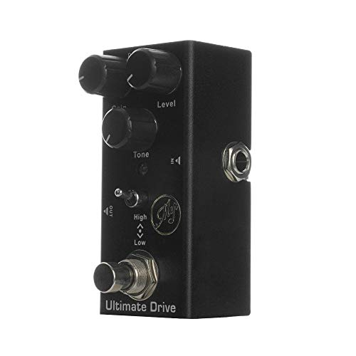 Andoer Ultimate Drive Effect Pedal para guitarras elétricas com True Bypass Portable Single Guitar Pedal DC 9V Preto