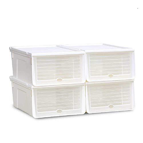 zhuao Transparante Schoenenopbergdoos, Schoenenkast Voor Schoenen, Kunststof Afwerkingsdoos Heren/Wit 3