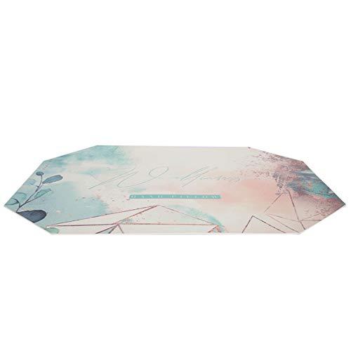 Almohadilla de uñas almohadilla de mano cojín de reposo de brazo almohadilla de uñas arte estera de escritorio para el resto de manos para el arte de uñas (octagonal graffiti mat)