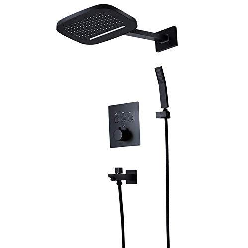 GENFALIN Duchas de mano, de alta presión ducha de lluvia cabeza, Wall-2 función de la lluvia de la ducha Montada ducha combinado, Mano juego de ducha, con áspero-en la válvula