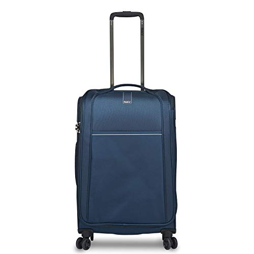 Stratic Unbeatable 4.0 Suitcase Soft Shell Trolley Trolley Suitcase Hand Luggage Soft Luggage TSA Lock Water Resistant Expandable, Navy (Blue) - 3-1025-65-navy