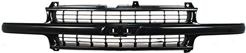 Grille Assembly Compatible with 1999-2002 Chevrolet Silverado 1500 Cross Bar Insert Plastic Paintable Shell and Insert with Center Bar