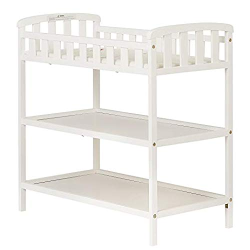 Dream On Me Emily Changing Table, White with Two Sided Contour Changing Pad, White