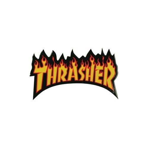 5ba8feb6dcec Amazon.com  Thrasher Flame Logo Sm Decal Single Assorted Colors  Sports    Outdoors