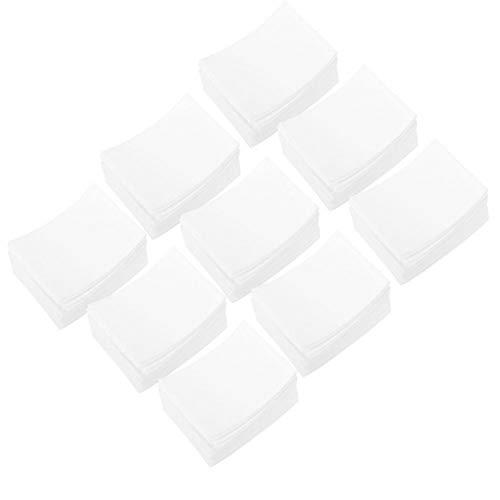 Herramienta de manicura almohadillas de algodón cómodas sin pelusa 900 Uds removedor de esmalte de uñas de algodón para amantes del arte de uñas para salón de uñas(Nail towel)