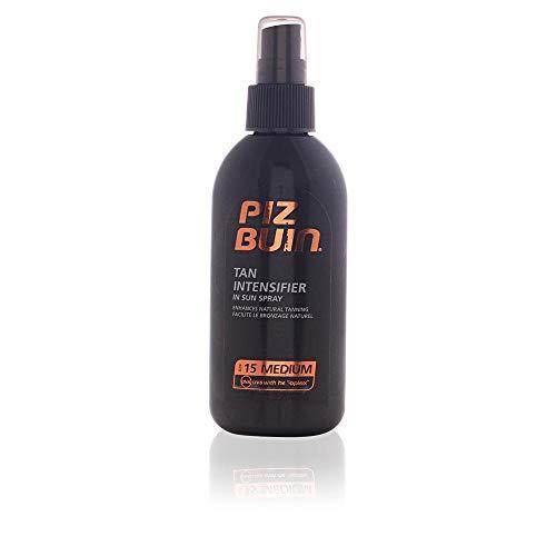 PIZ BUIN Tan & Protect Tan Intensiving Spray LSF 15 – Bräunungsbeschleunigendes Öl Spray für eine intensive Bräune mit effektivem Schutz – 150ml