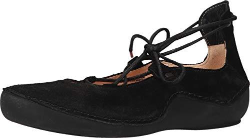 Think! KAPSL_3-000380 nachhaltiger, Zapatos Tipo Ballet Mujer, 0000 Negro, 39 EU