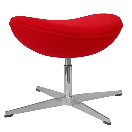 Vivol Egg-Chair - Taburete para silla de huevo, color rojo