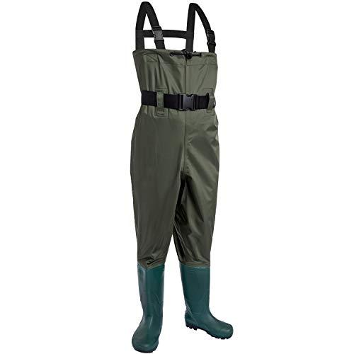KOMEX Wathose Upgrate Anglerstiefel Wathose Jagd Bootfoot mit Watgürtel Wasserdichte Stiefel Atmungsaktiv Nylon und PVC Watstiefel für Damen und Herren (