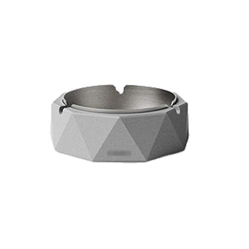 Cigarrillo de acero inoxidable para hombre y mujer, al aire libre en interiores, bandeja de ceniza de escritorio para fumar bandeja de ceniza (color: gris, tamaño: C) YXF99 (color: gris)