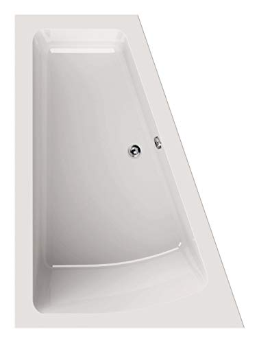 Calmwaters® Raumsparende Eckbadewanne 170x125 cm, Acrylwanne Modern Plus, Duo-Badewanne für 2 Personen, platzsparende Badewanne, rechte Ausführung, Maße 170 x 125 cm, Eck-Badewanne Weiß, 02SL3331