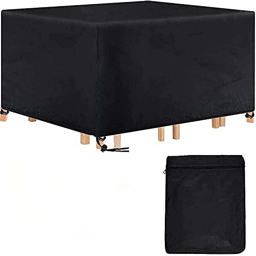 Landrip Copertura Tavolo Esterno, Copertura per mobili da Giardino Rettangolare, Telo Copri Impermeabili per Tavolo e Sedie da Esterni (200 x 160 x 70CM)