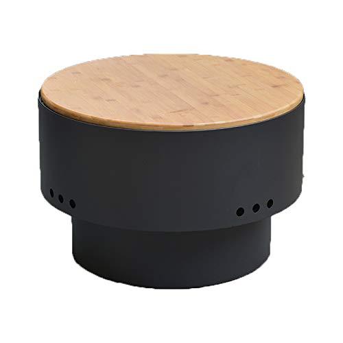 QILIN Tragbare Feuerstelle, Verwendet für Das Verbrennen Von Holzpellets im Freien Funken, Herd Grill für Kaminofen, Kleiner Holztisch, für Camping Picknick Strand