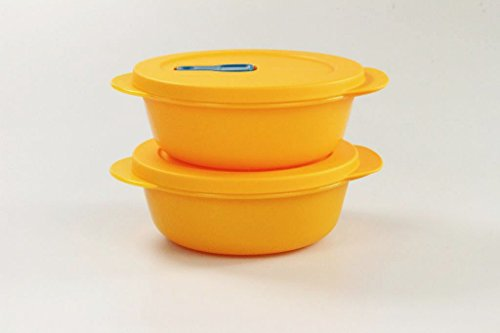 TUPPERWARE Mikrowelle CrystalWave (2) 600 ml bowl orange Micro Wave Pop Plus 26470