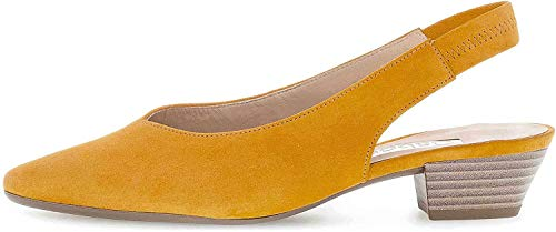Gabor Heathcliff Womens Slingback Court Shoes 37 13 Mango Suede